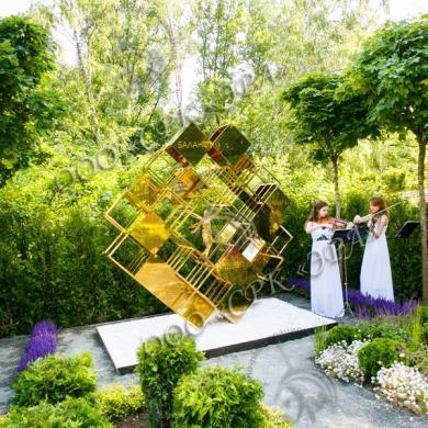 Гальваническое золочение скульптурной композиции в честь 20-летия журнала «Главбух»