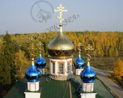 Замена куполов и крестов