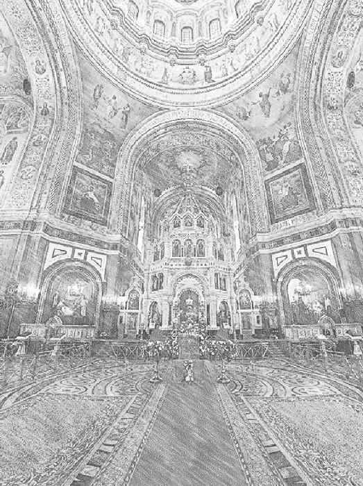 В Храме Христа Спасителя идет реставрация