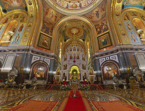 В Храме Христа Спасителя идет реставрация после обнаружения трещин