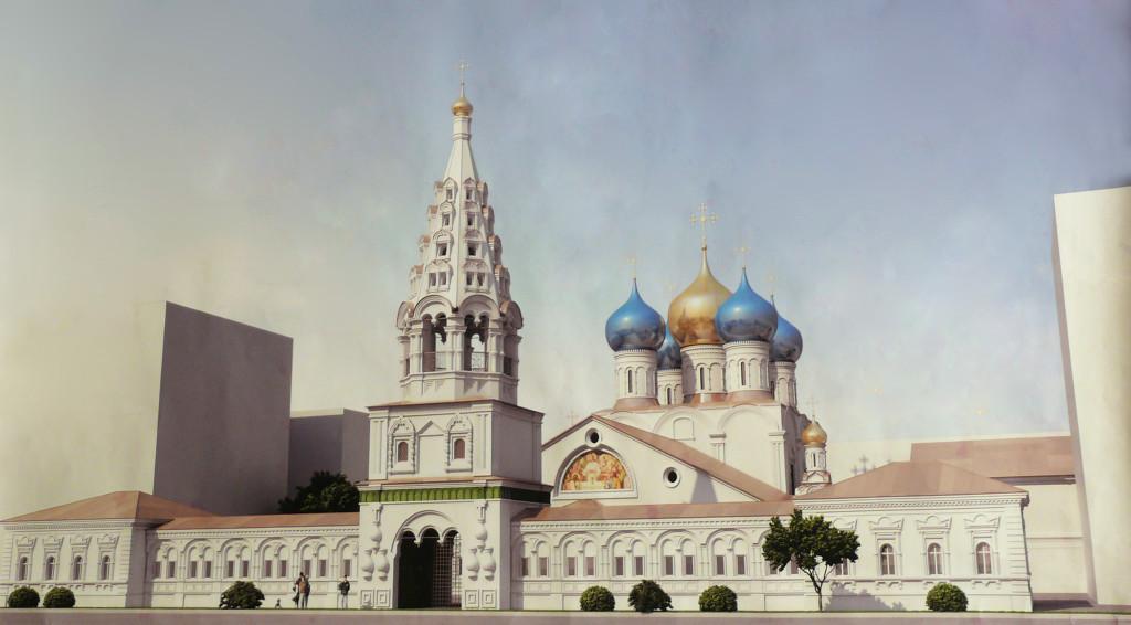 изготовление золочение куполов крестов храме Рождества Пресвятой Богородицы
